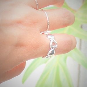 Custom Designed Heart Ring - Solid 925 Silver